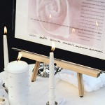 Unity Candle and Ketubah at an Interfaith Wedding ©ModernKetubah.com