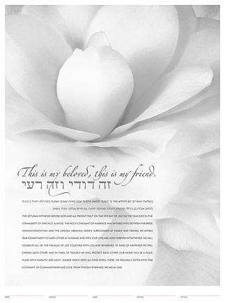 Bloom (grey) ketubah by Daniel Sroka