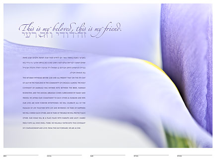 The Iris Ketubah: a fine art ketubah created by Daniel Sroka of ModernKetubah.com for couples of all faiths and cultures.