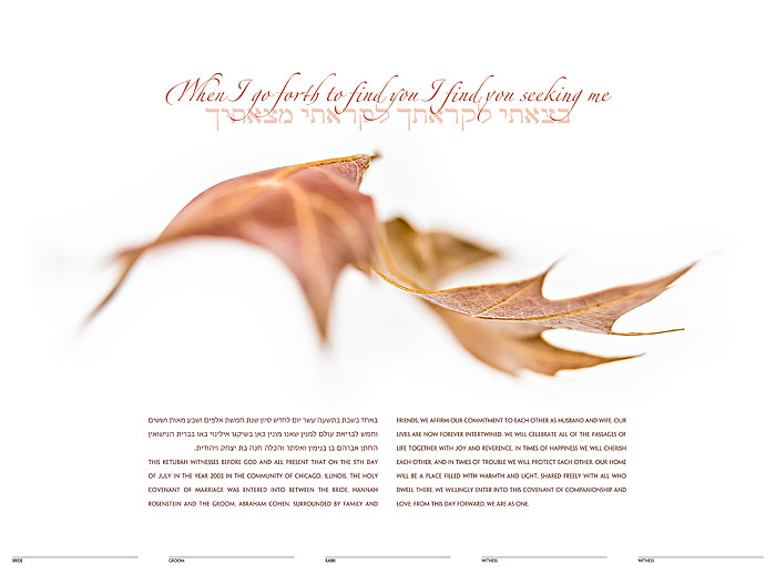 The Floating Ketubah