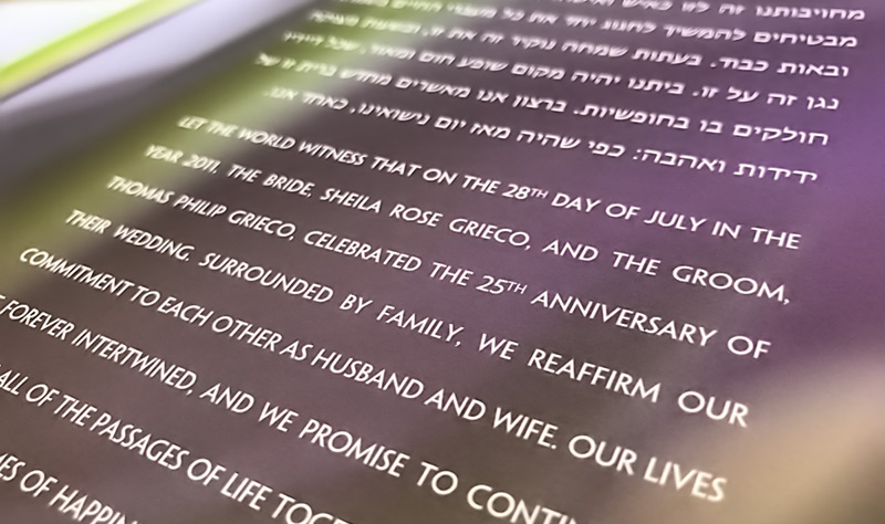 You ketubah will be personalized for your wedding.